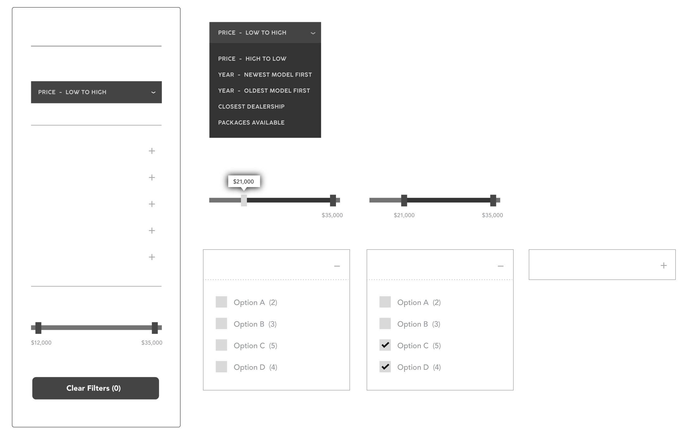 The filtering wireframe