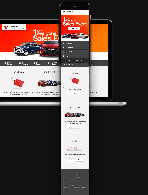 BuyAToyota.com homepage design