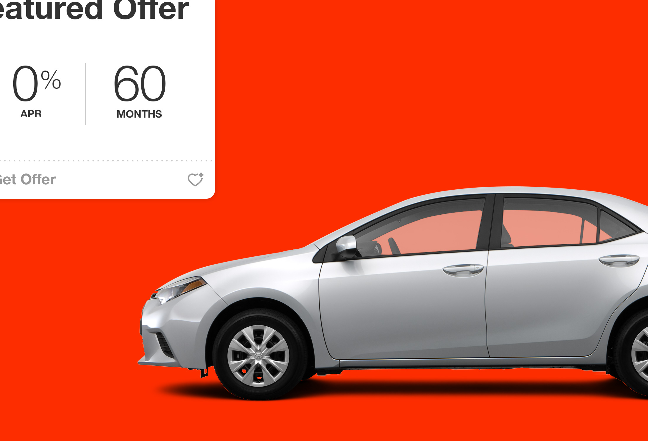 Zoomed in portion of BuyAToyota.com website