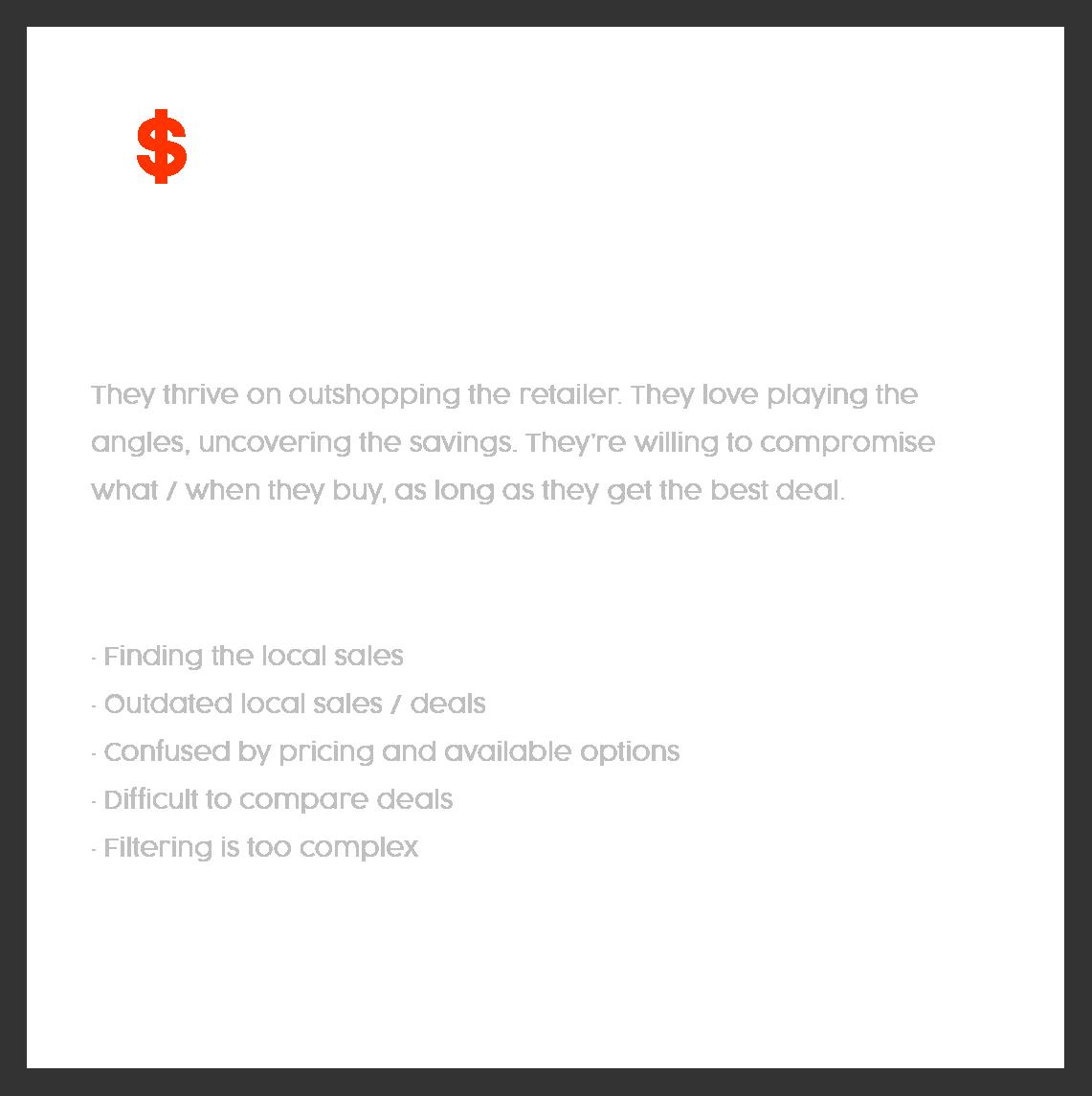 The deal seaker  - user persona