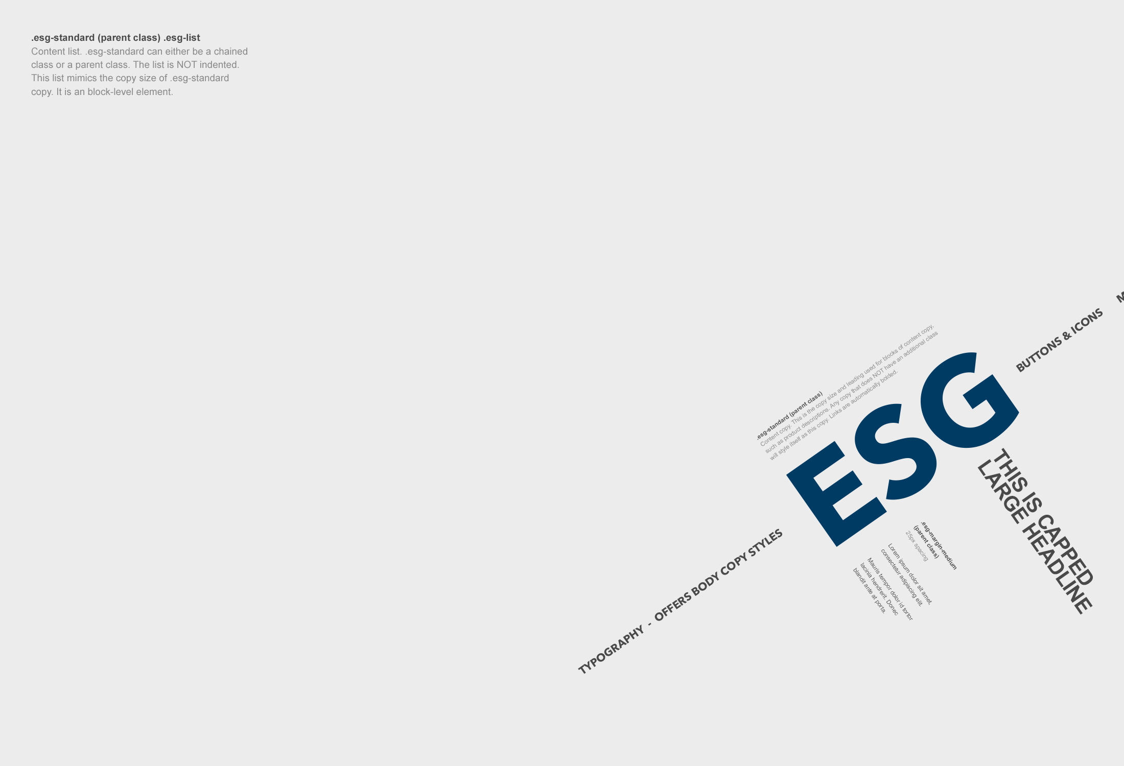 Poster of ESG style guide
