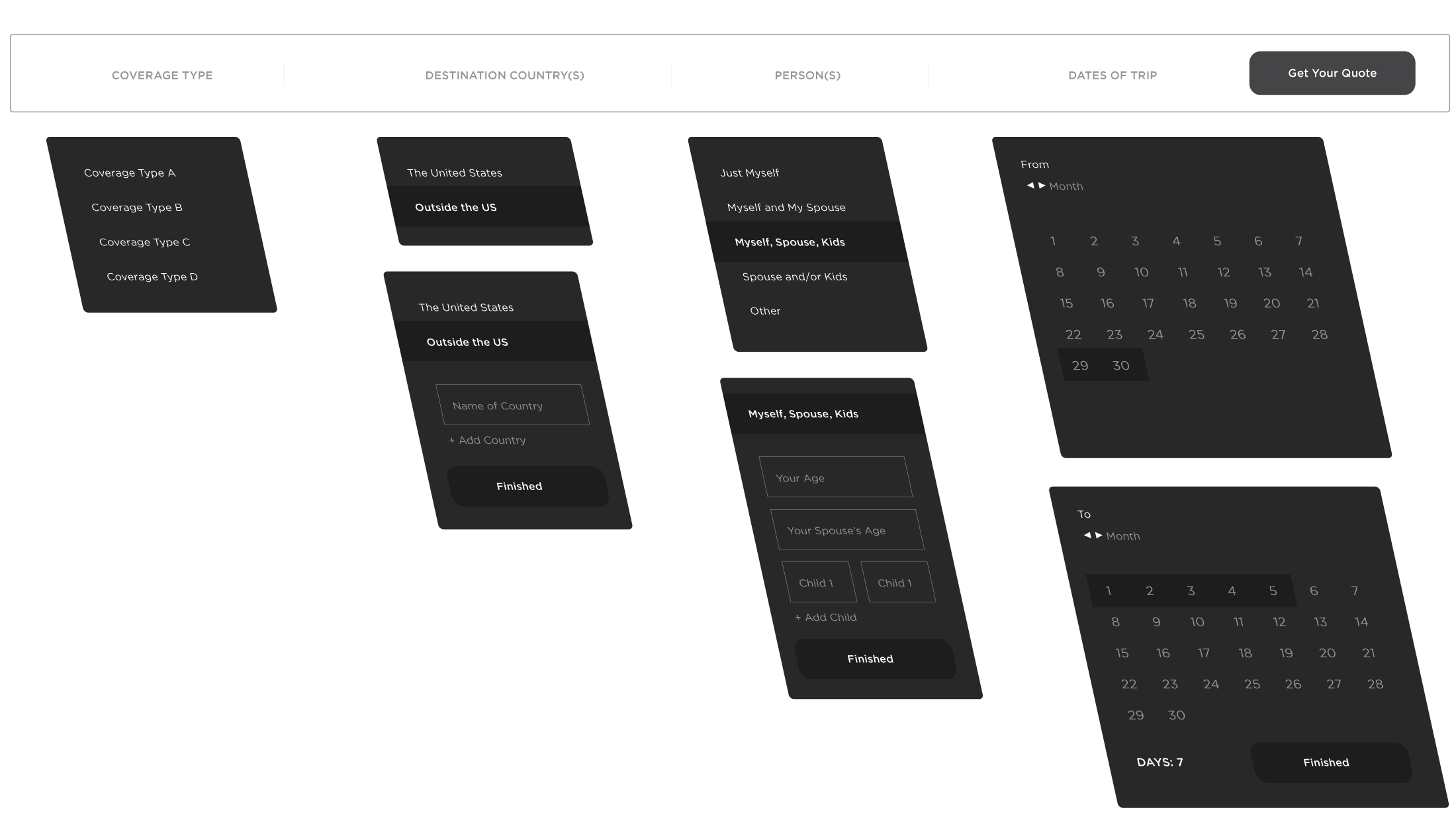 Main form wireframe