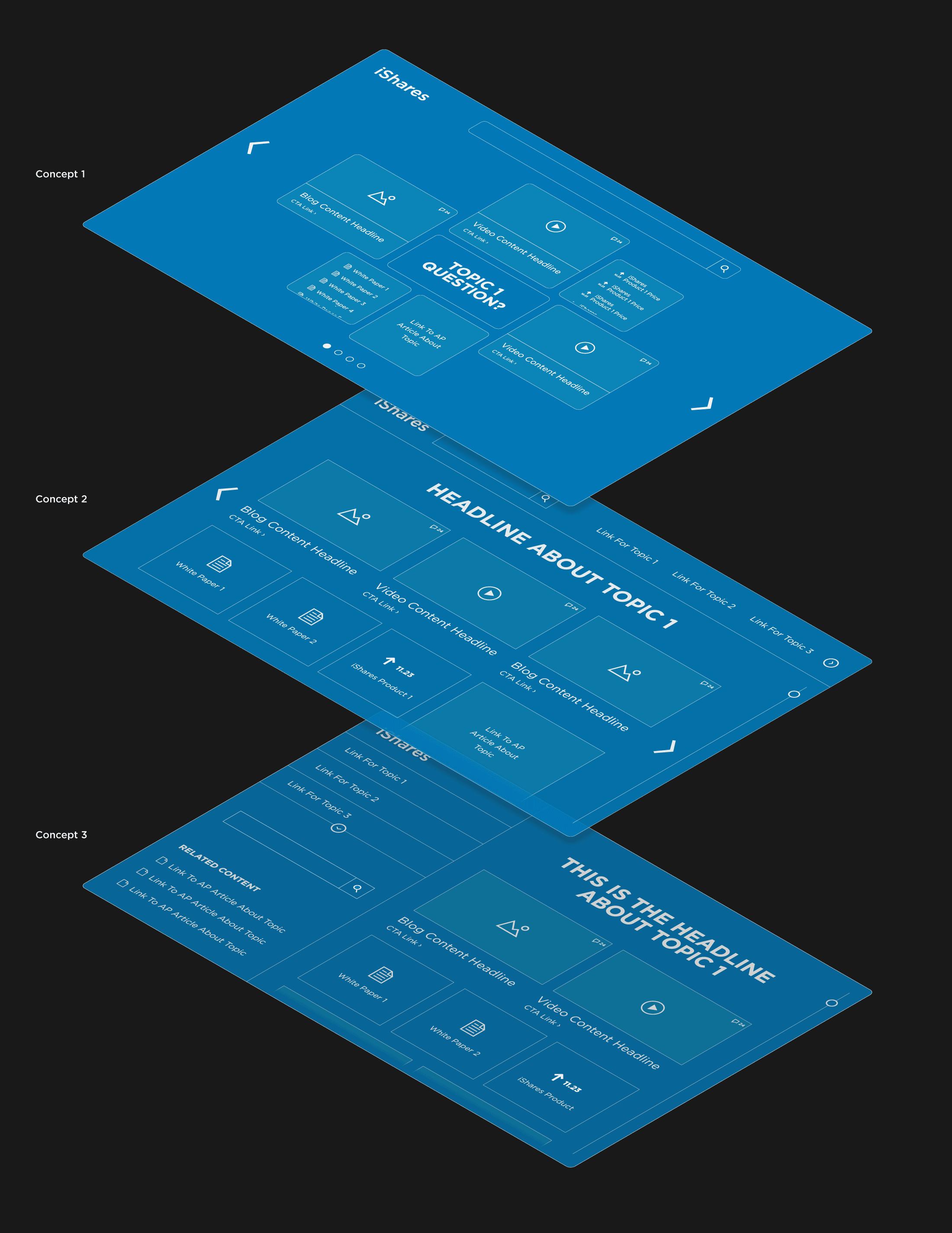 3 prototype concepts